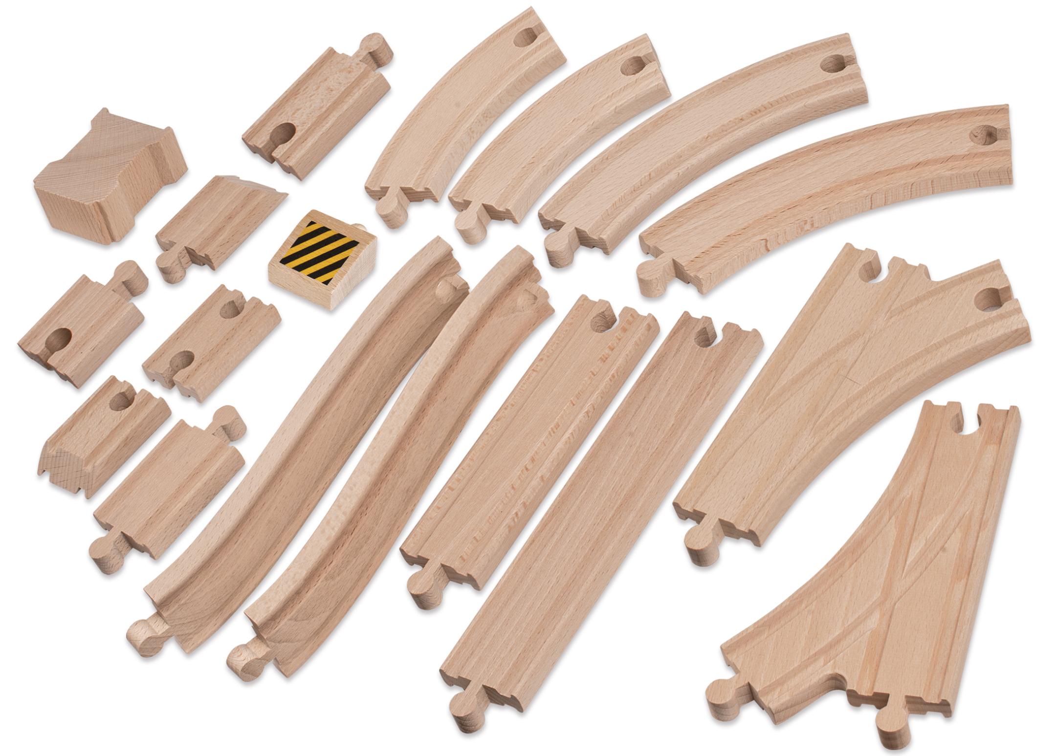 Eichhorn Holzschienenset 50tlg.