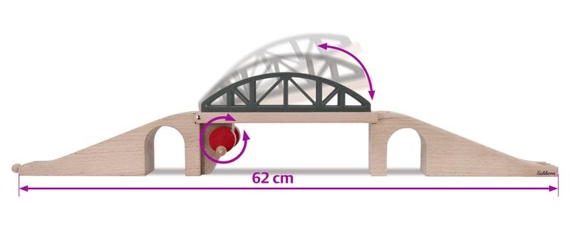Eichhorn Holzschienenbahn Hebebrücke
