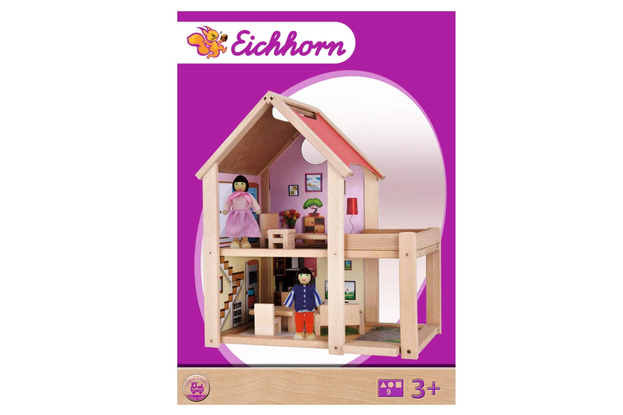Eichhorn Puppenhaus inkl. Möbel