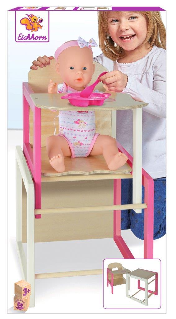 EH Puppenhochstuhl mit Tisch
