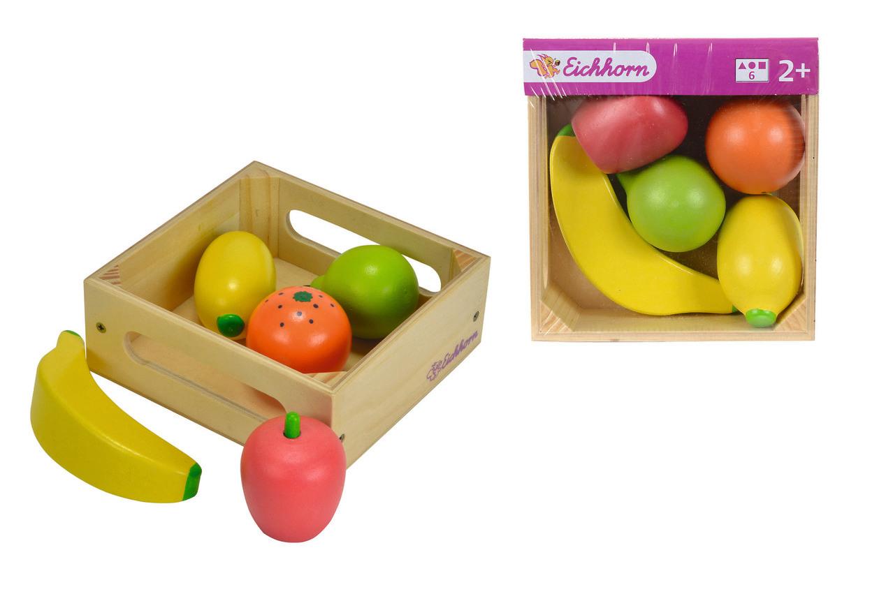 Eichhorn Holzbox mit Früchten 6tlg.