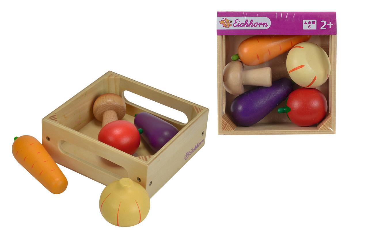 Eichhorn Holzbox mit Gemüse 6tlg.