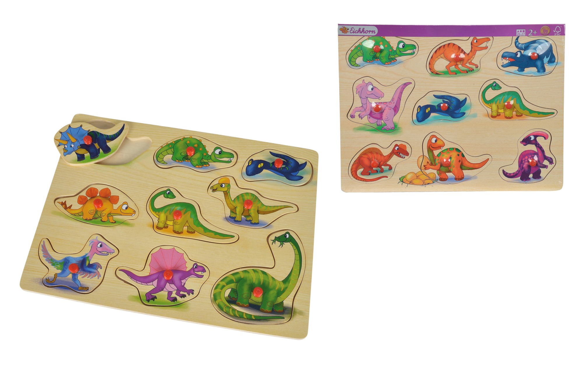 Eichhorn Steckpuzzle Dino 2fs.