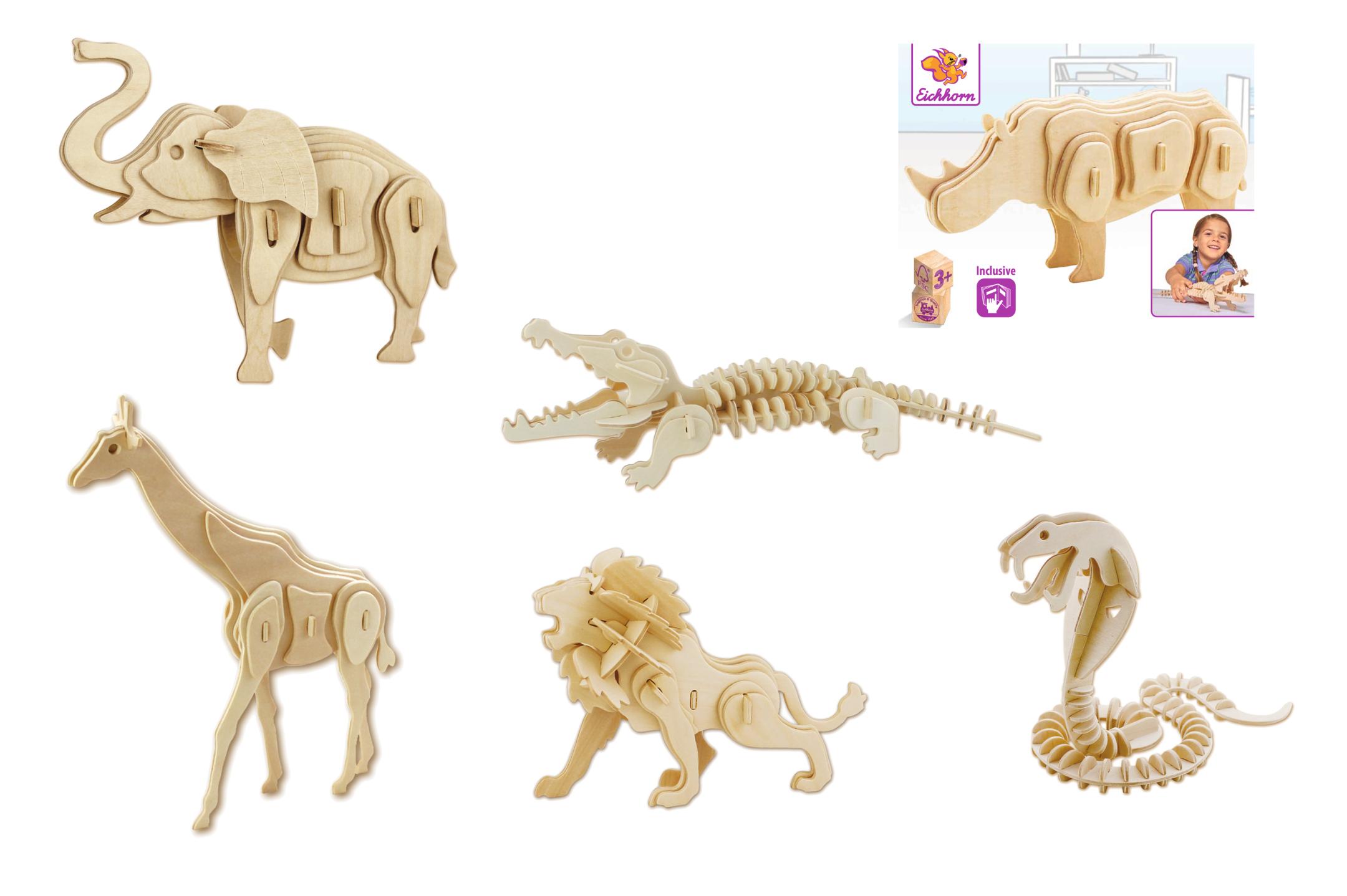 Eichhorn 3D Puzzle Safari 6fs