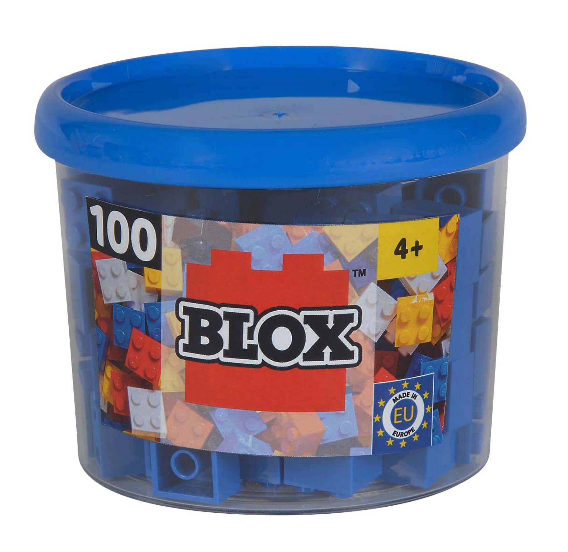 Blox 100 blaue 4er Steine