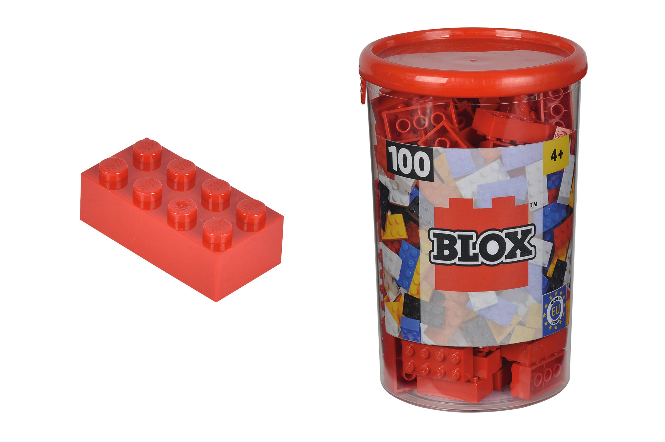Blox 100 rote Steine in Dose