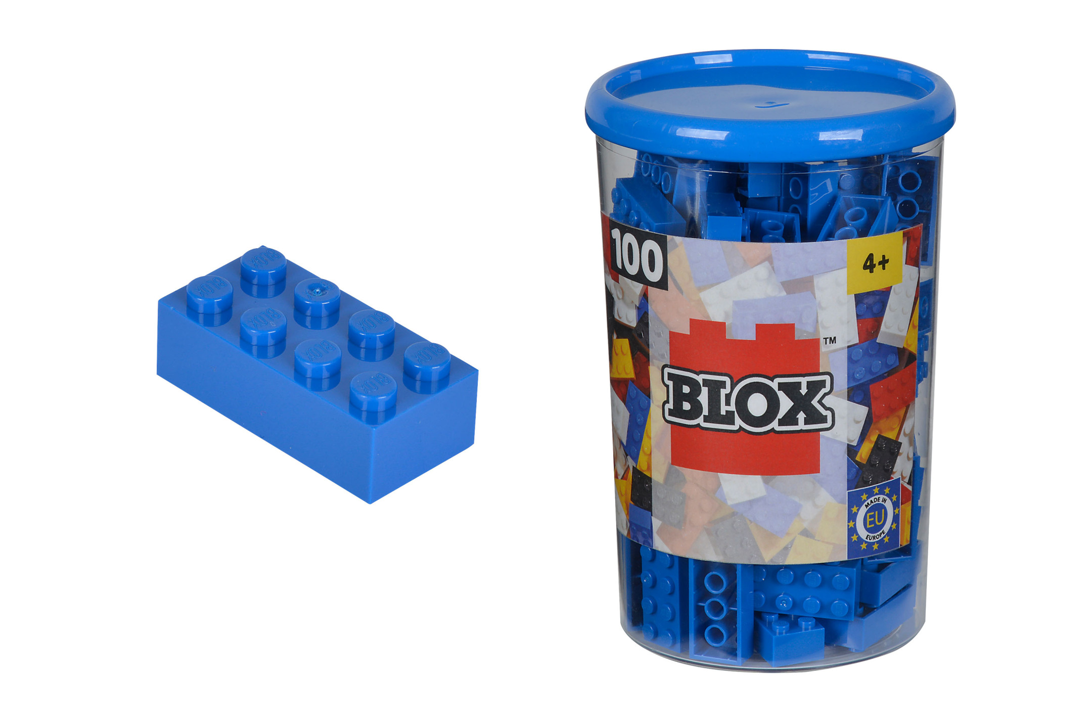 Blox 100 blaue Steine in Dose