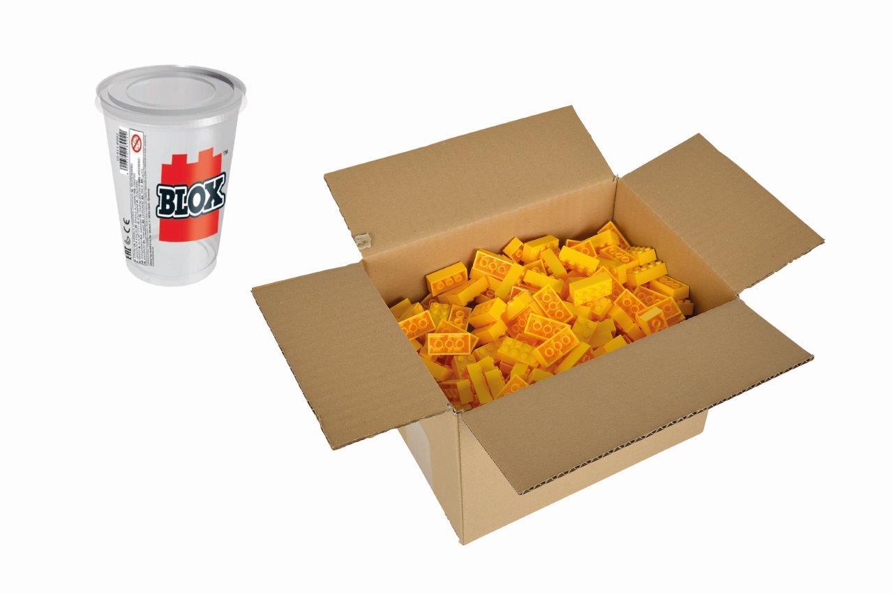 Blox 500 gelbe 8er Steine Karton