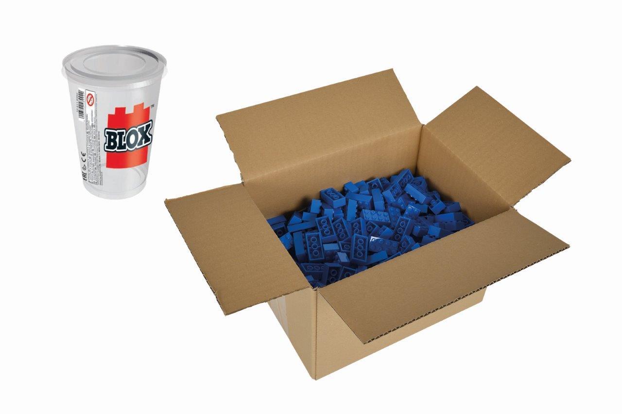 Blox 500 blaue 8er Steine Karton