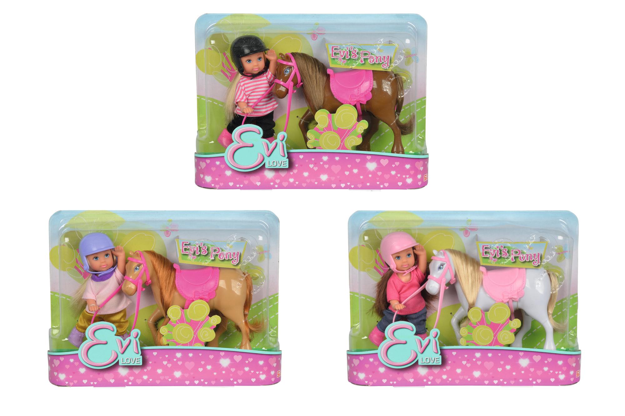 Evi Love mit Pony Puppe 12cm 3fs