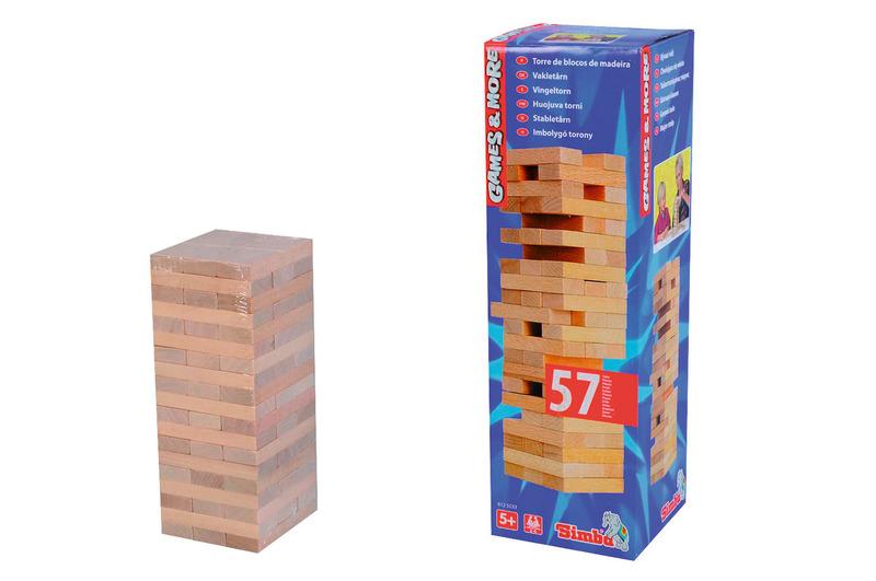 Games & More Wackelturm Holz