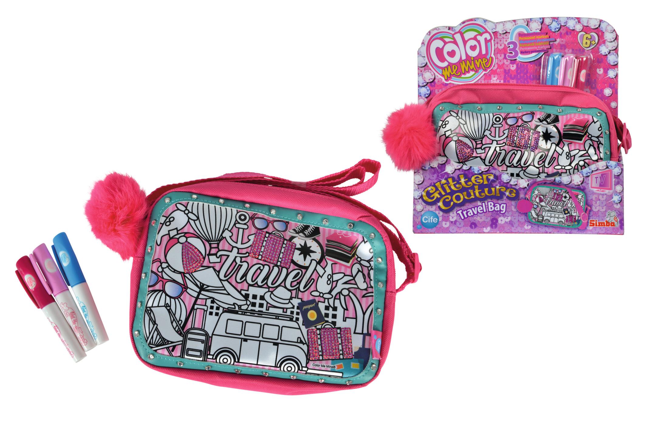 Color Me Mine Glitter Couture Travel Bag