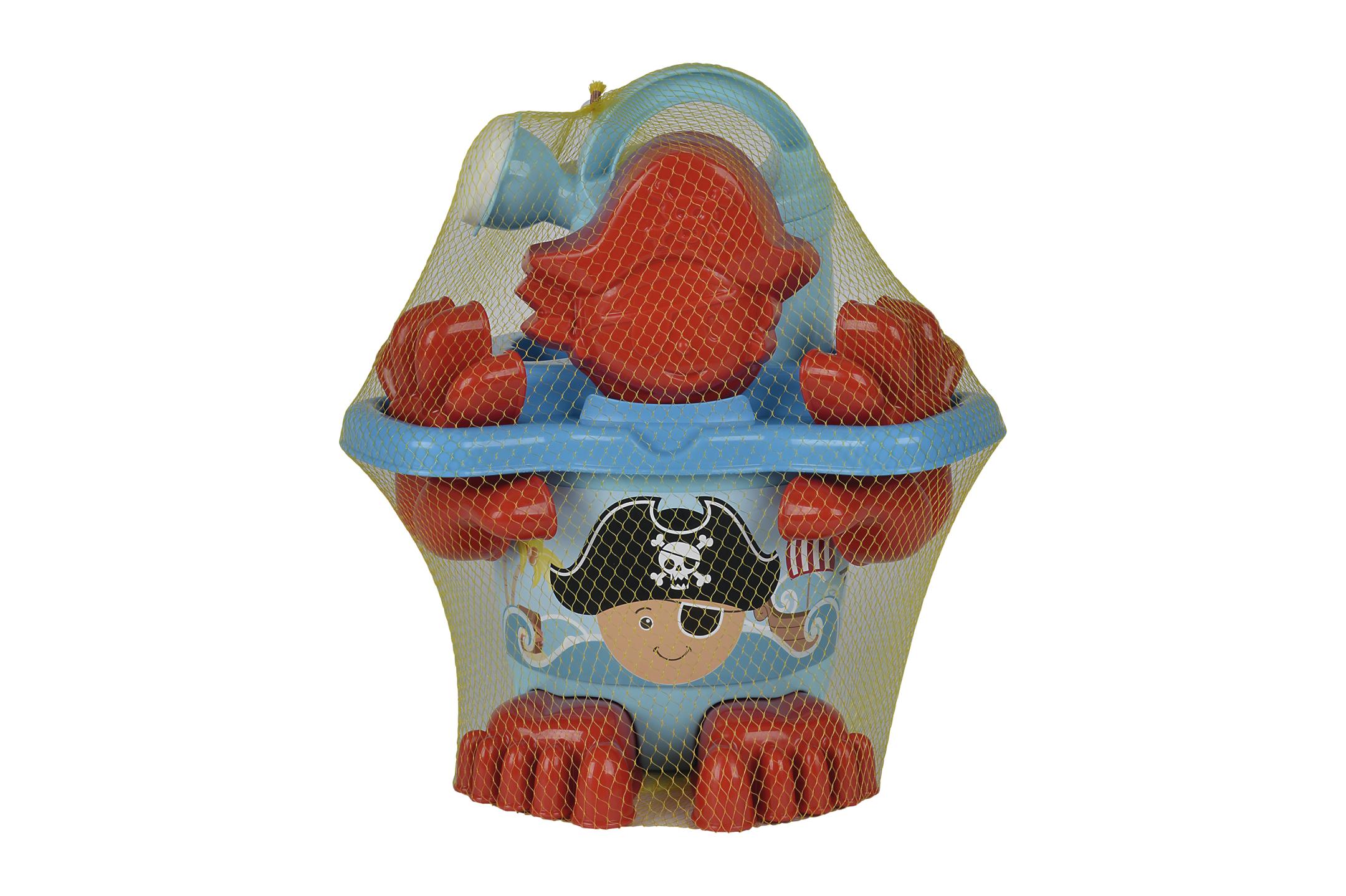 Piraten Eimergarnitur mit Füßen 11tlg.