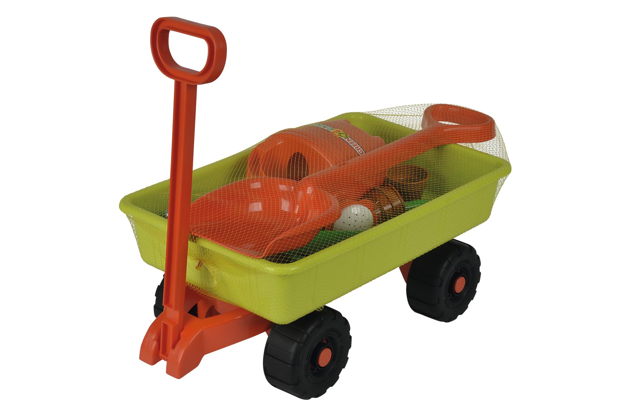 Handwagen mit Gartenwerkzeug
