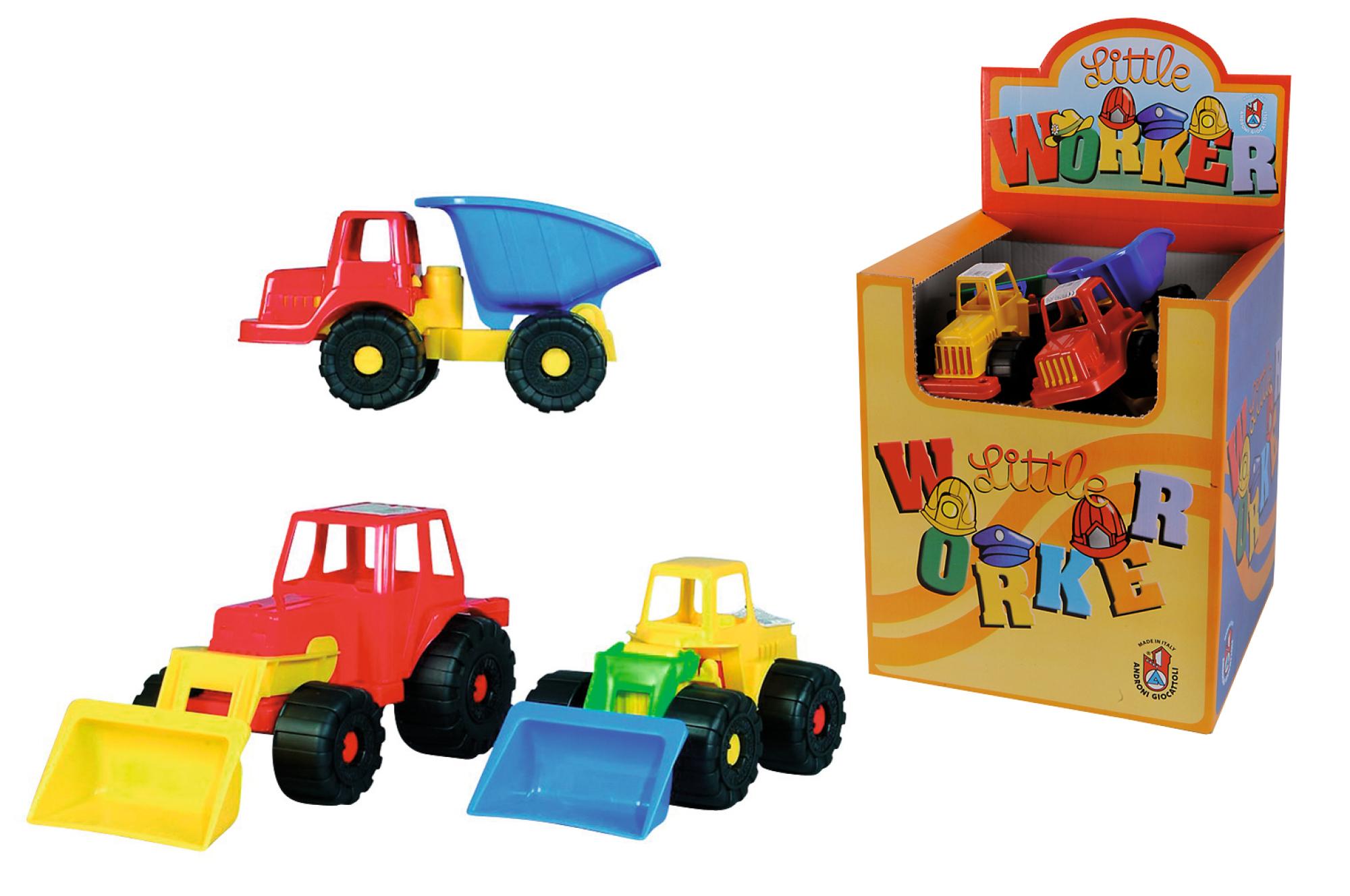 Display Little Worker Baufahrzeuge 3fs