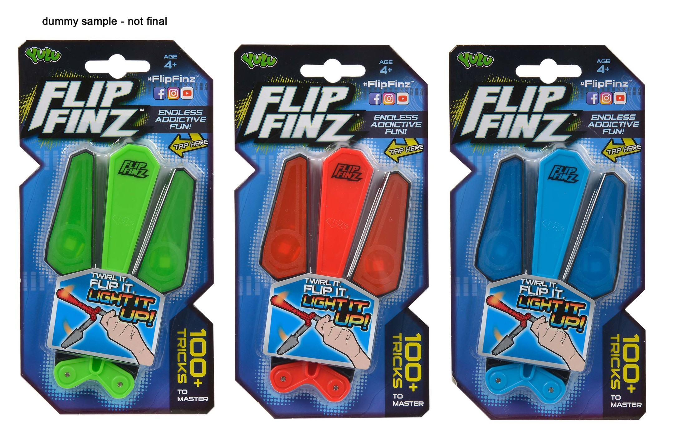 Flip Finz Light Up 3fs