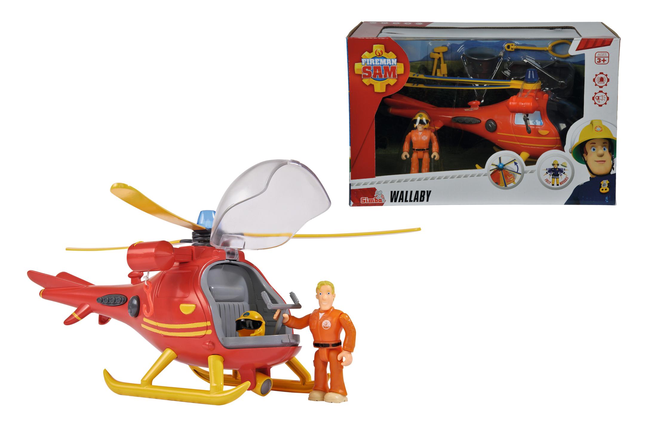 Fireman Sam Hubschrauber mit Figur