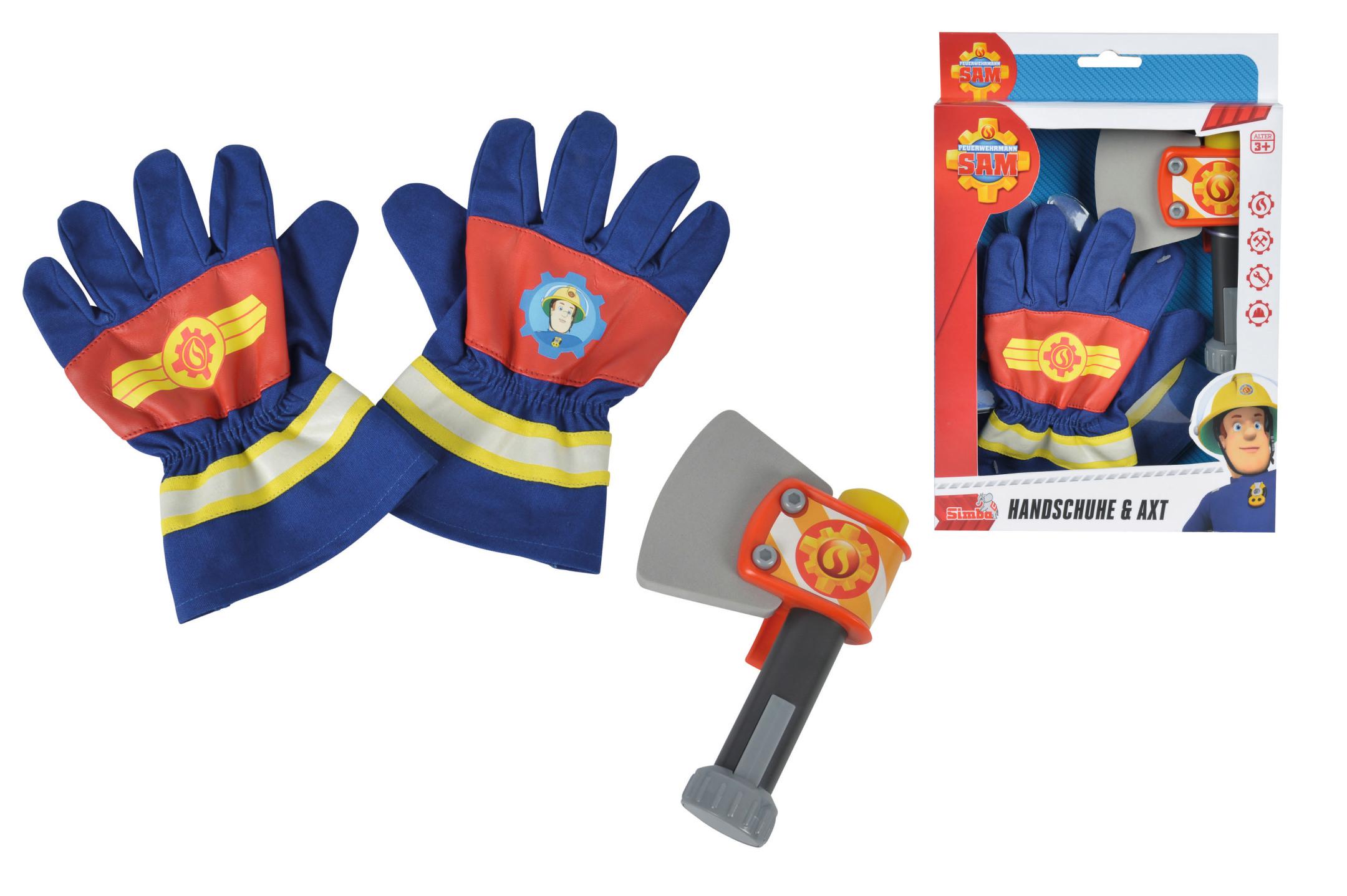 Fireman Sam Handschuhe und Axt