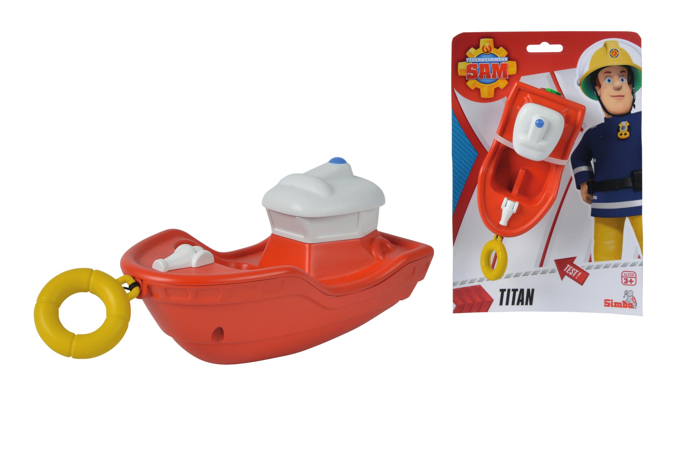 Fireman Sam Aufzieh-Boot Titan