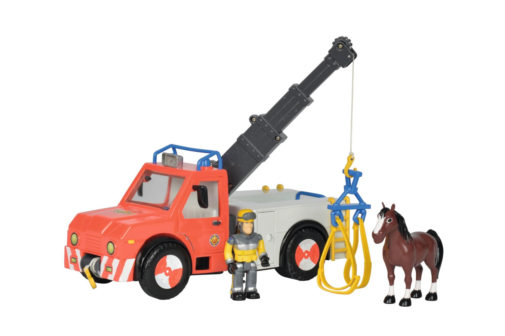 Fireman Sam Phoenix mit Figur & Pferd