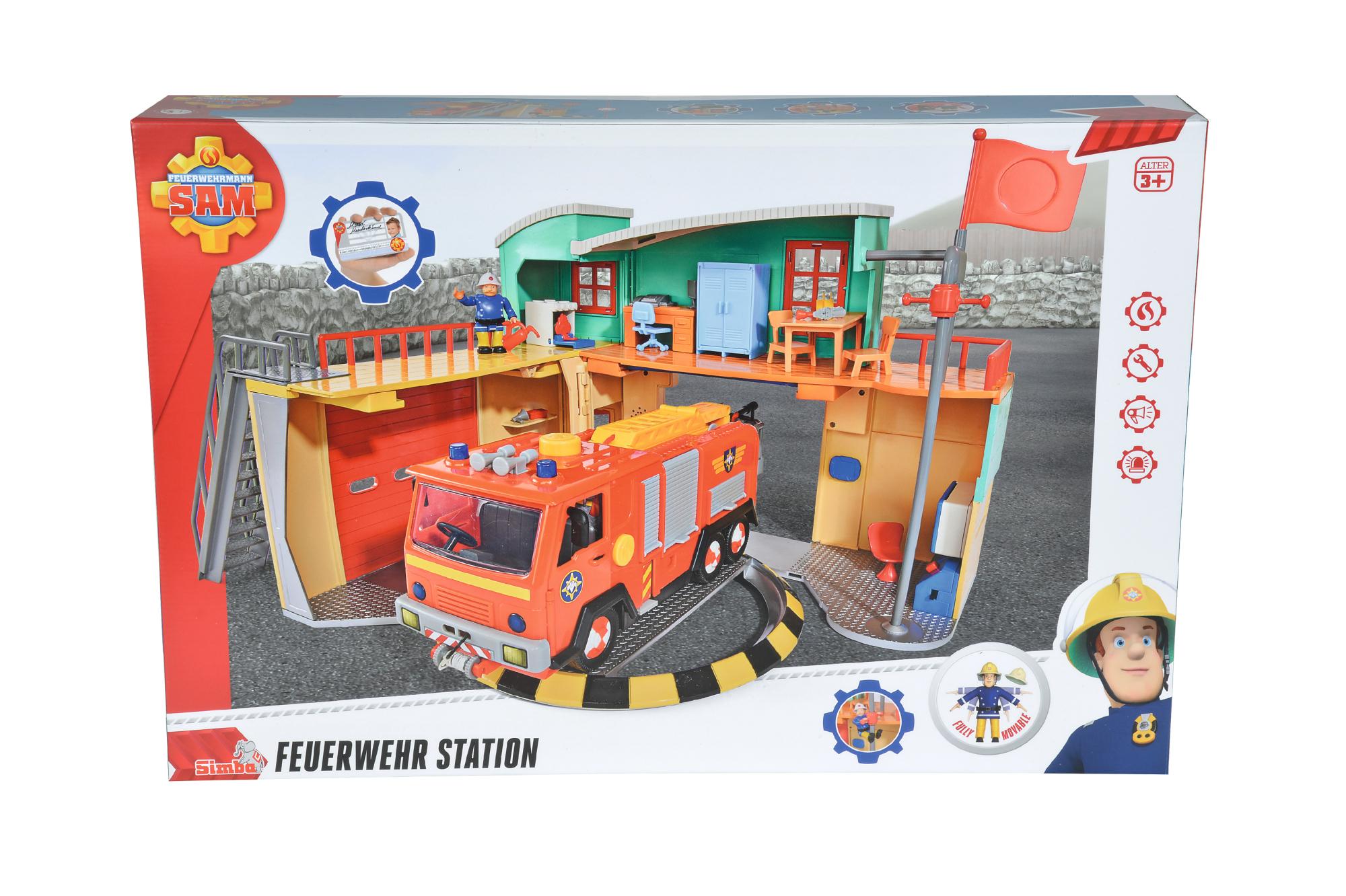 Fireman Sam Feuerwehrstation mit Figur