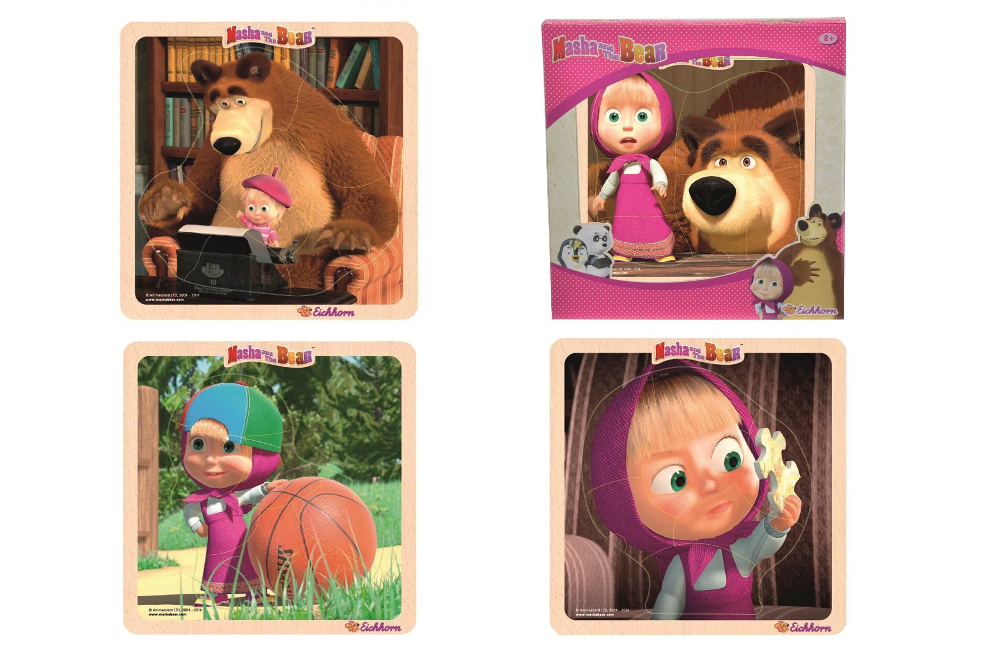 Masha und der Bär Einlegepuzzle 4fs