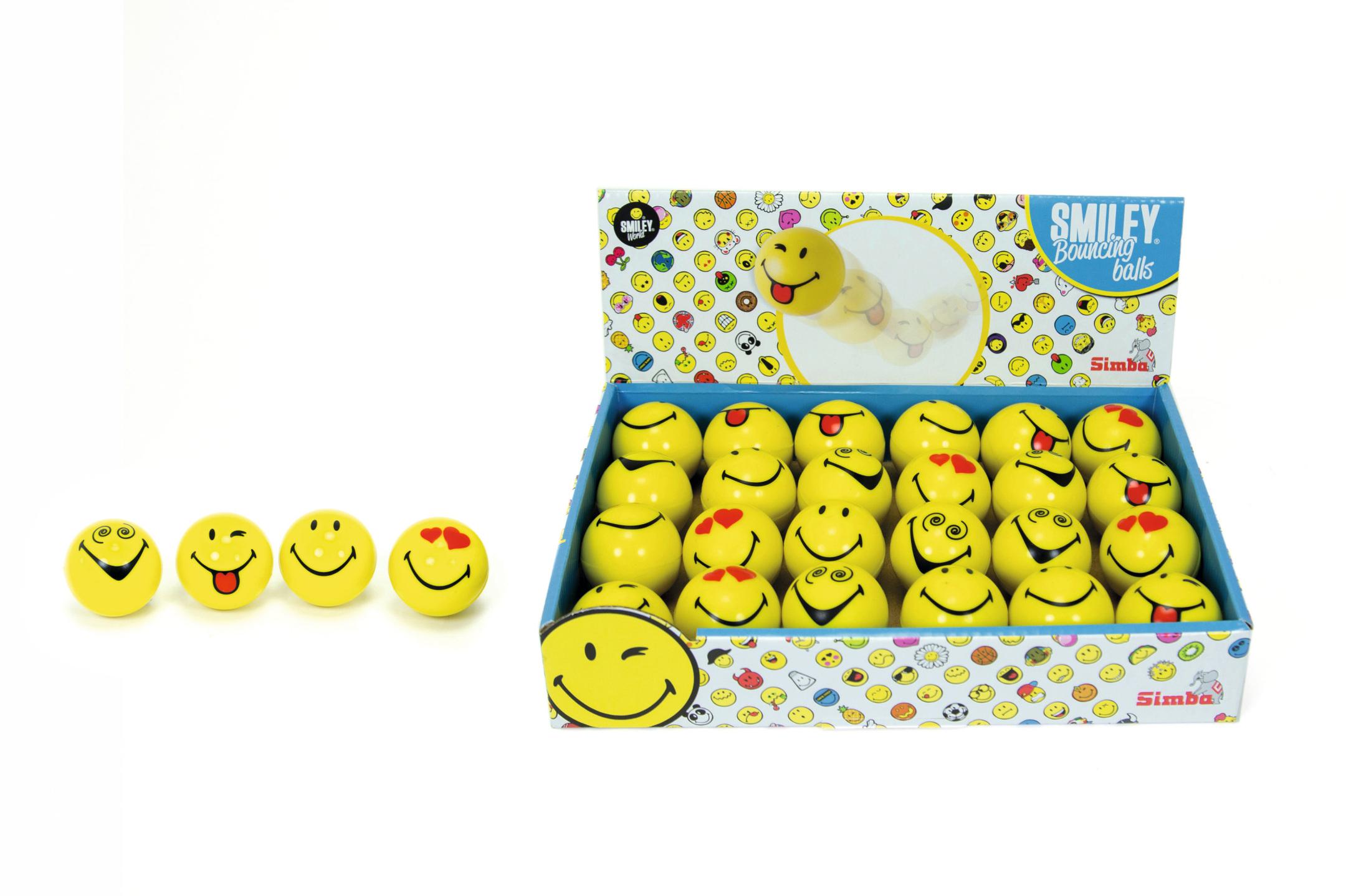 Smiley Sprungball 38mm