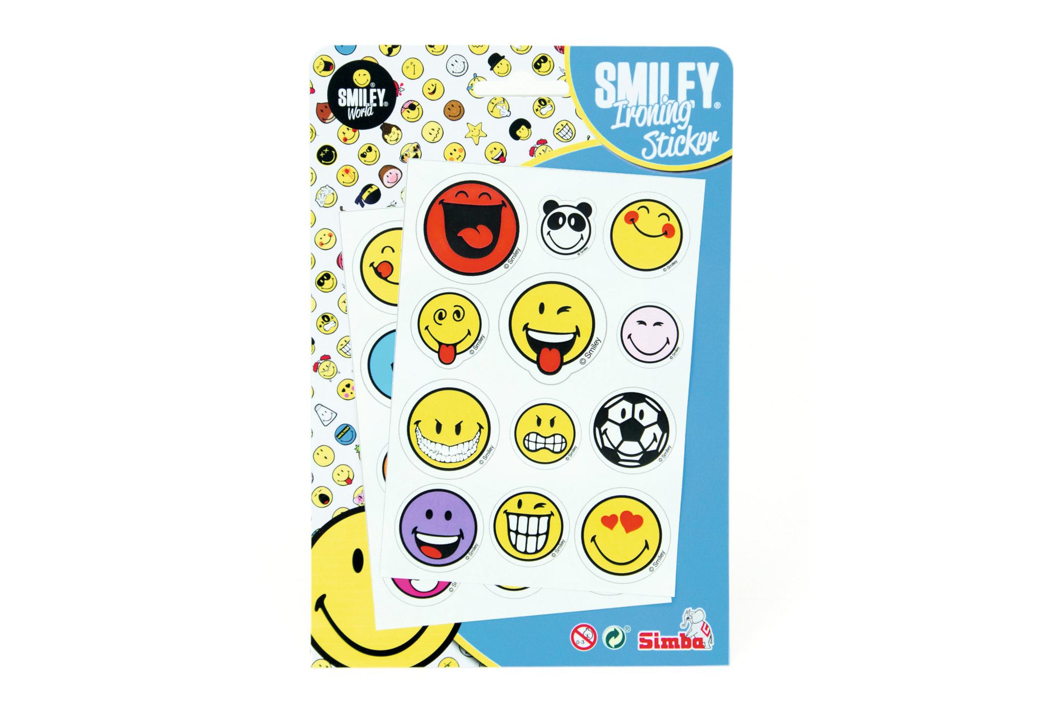 Smiley Bügelsticker