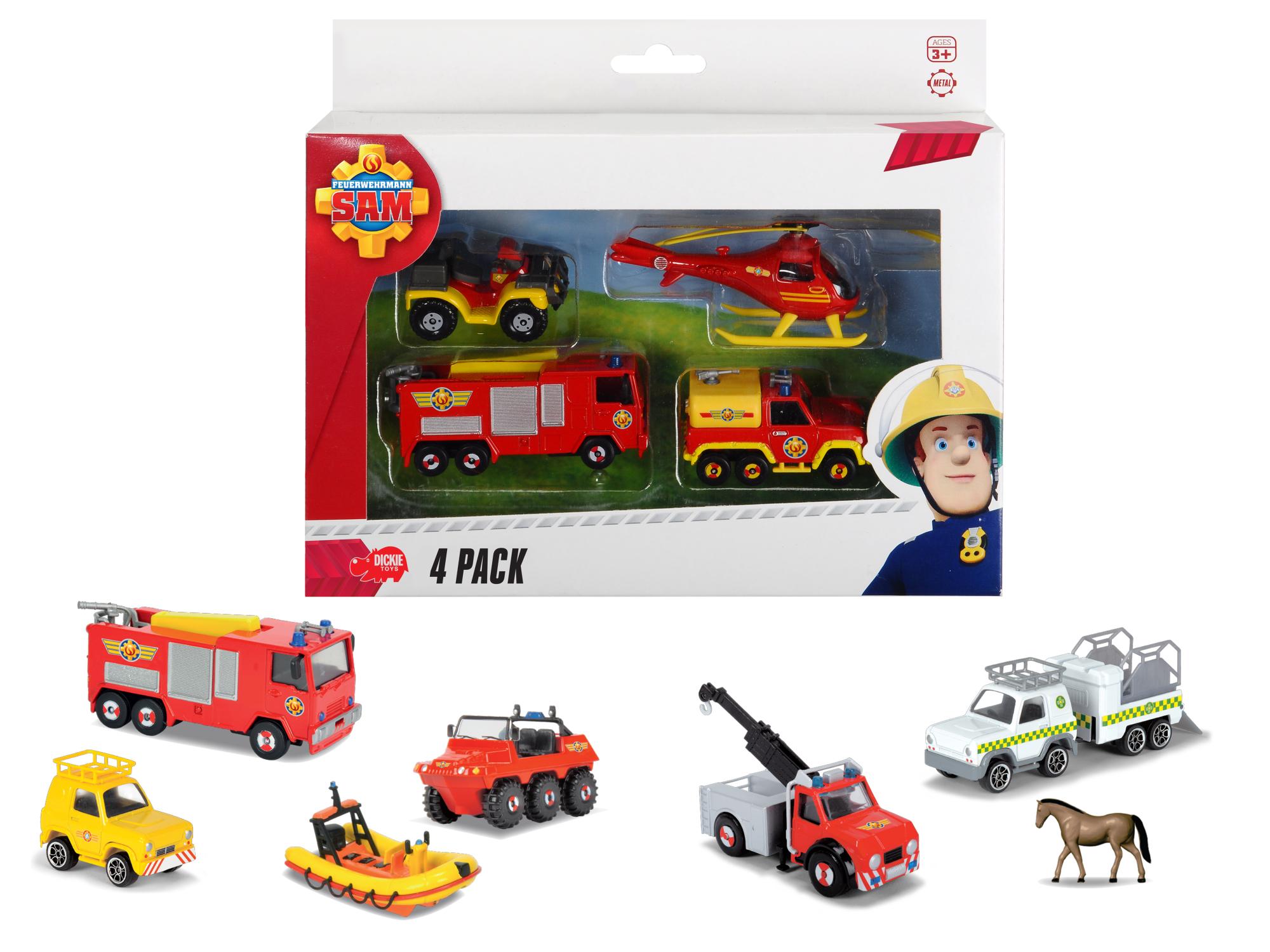 Fireman Sam 4er Pack 3fs