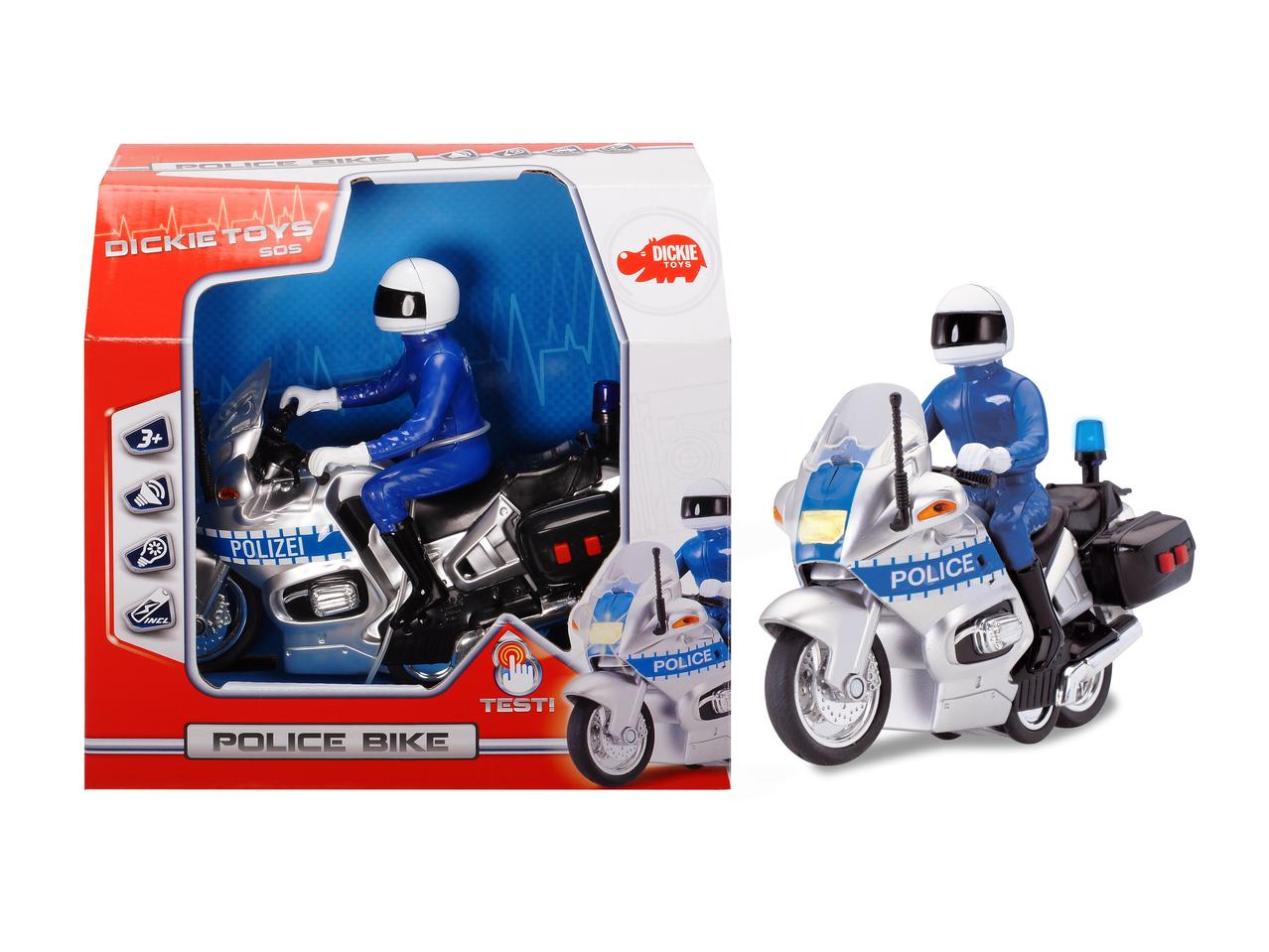 Polizei Motorrad mit Blaulicht