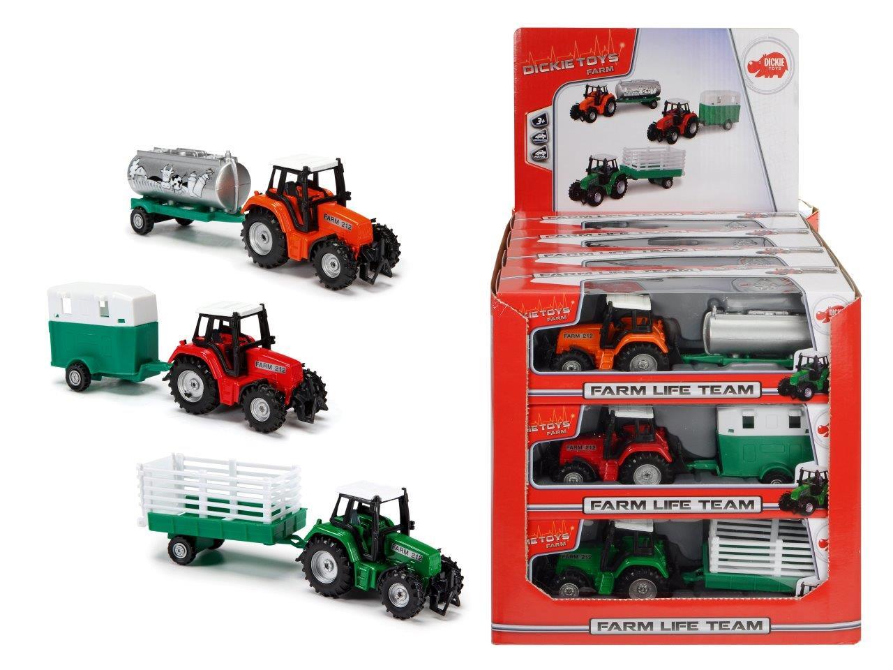 Farm Set Traktor mit Anhänger 3fs