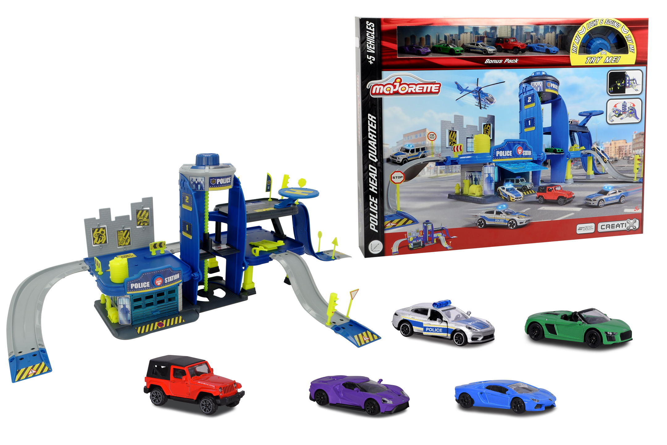 Creatix Polizei Playset+5 vehicles
