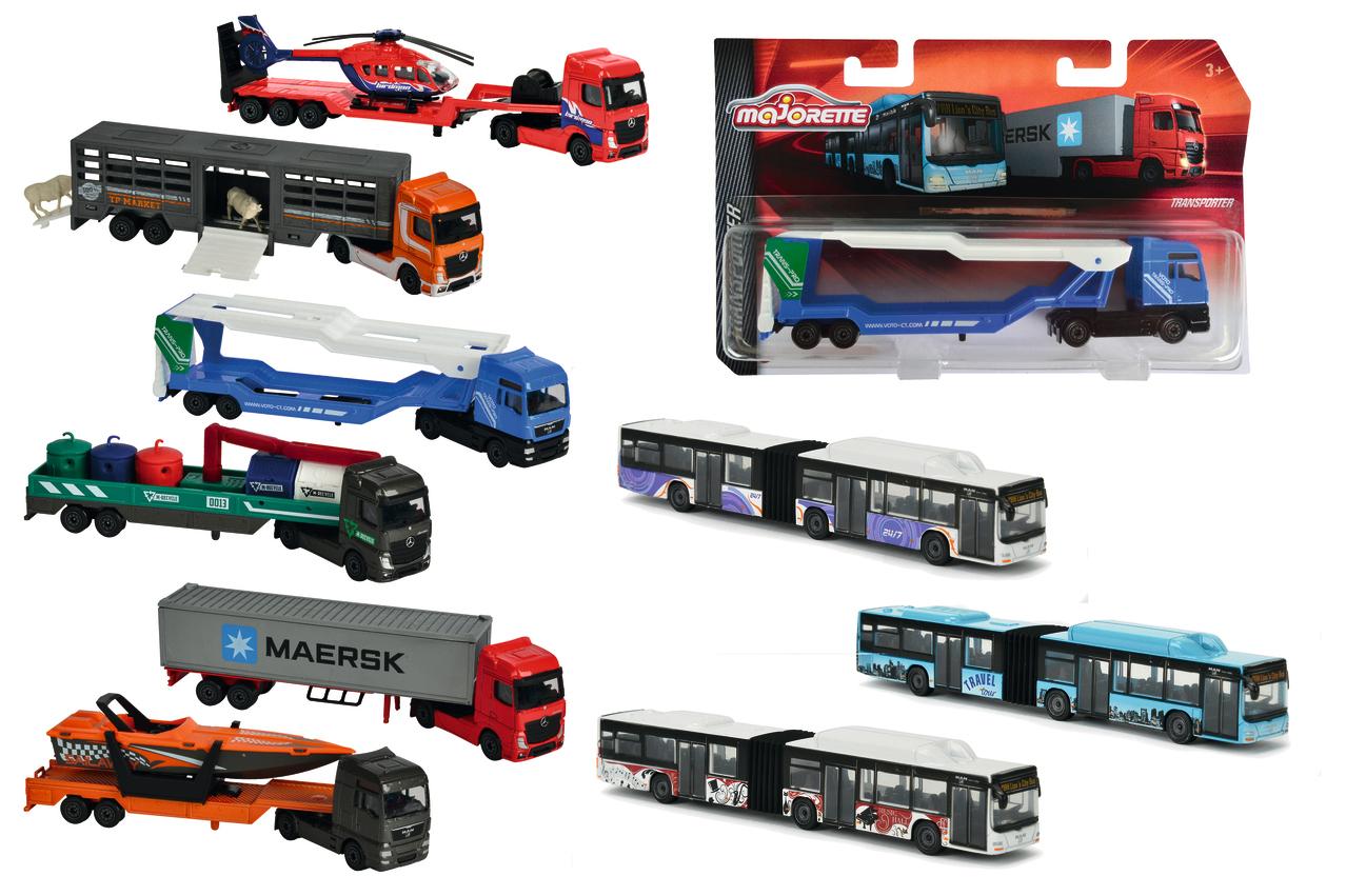 Majorette LKW Transporter - Bus 9fs