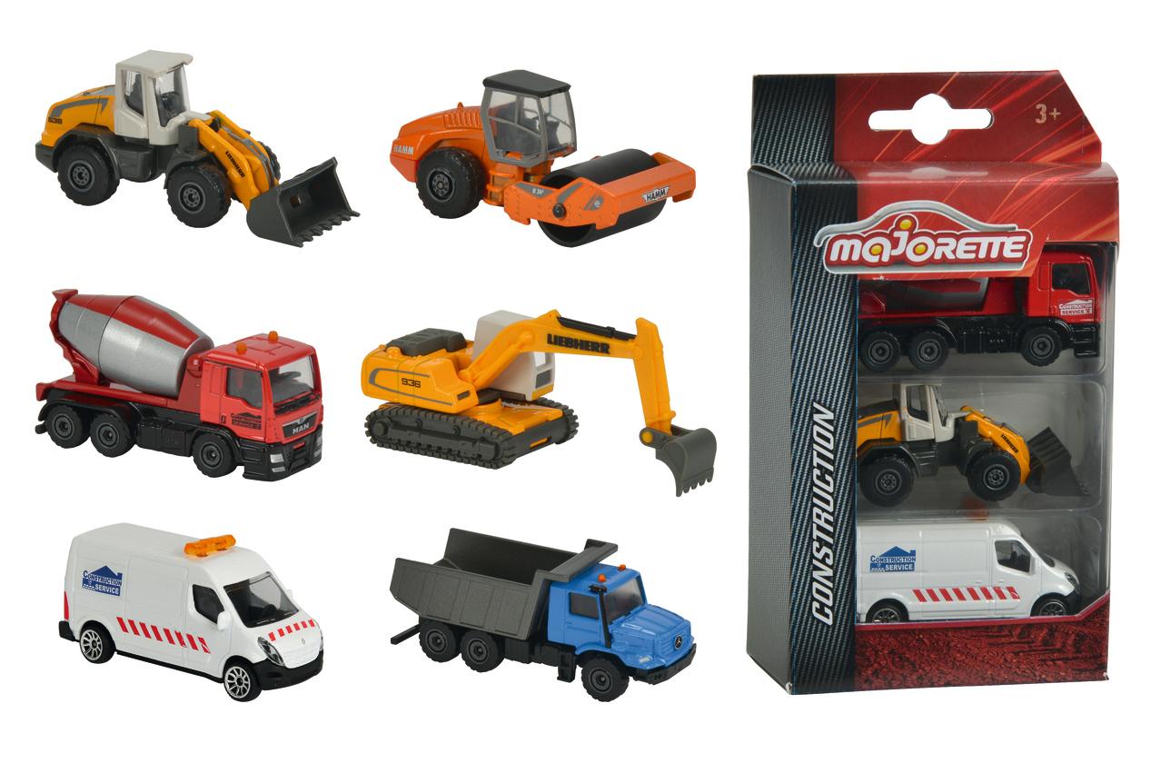 Majorette Construction Baufahrzeuge 2fs