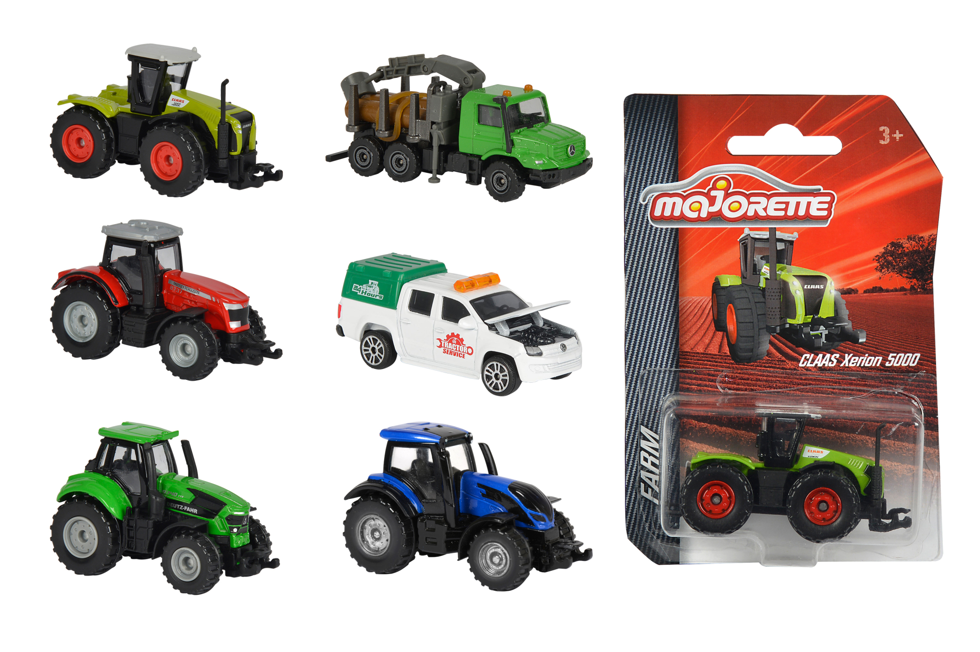 Majorette Farm Fahrzeuge lenkbar 6fs