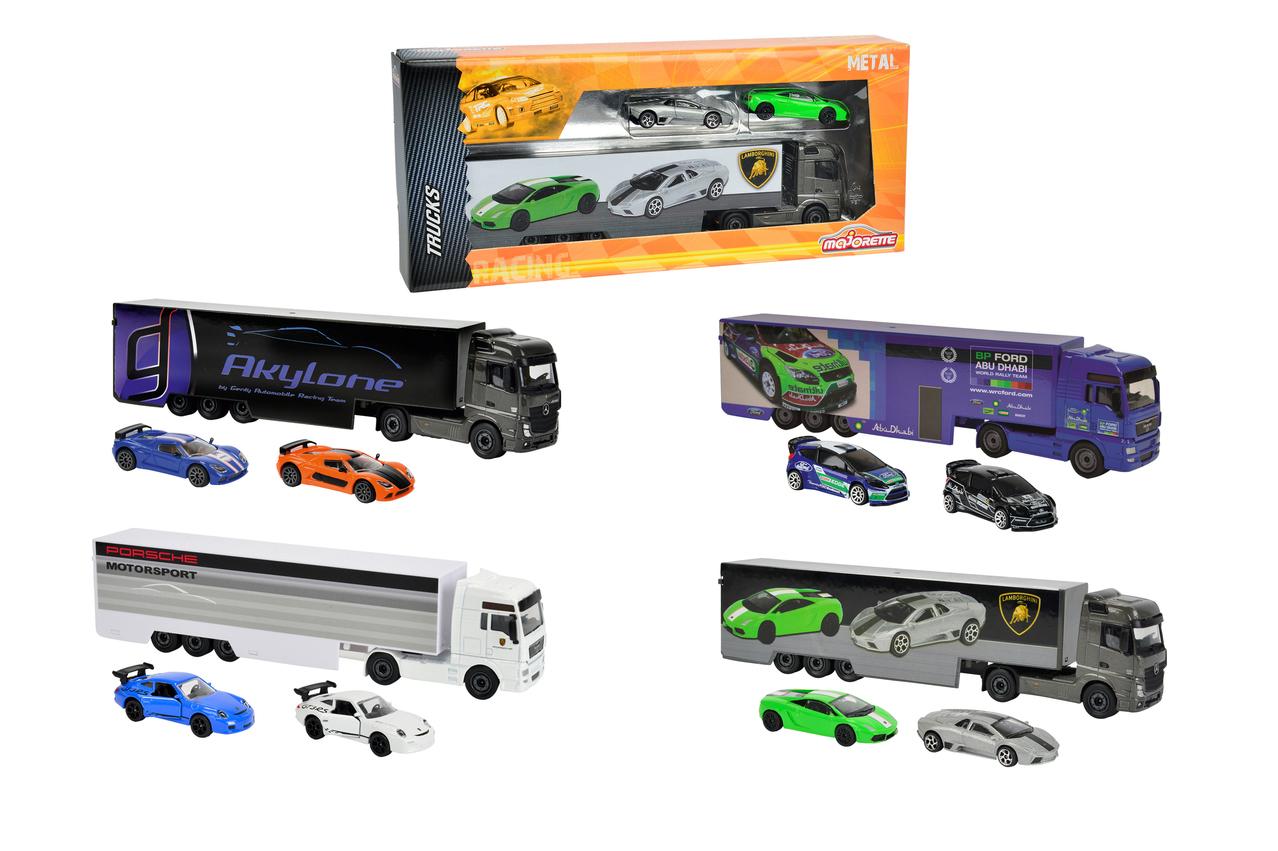 Majorette Racing Truck mit 2 Autos 4fs