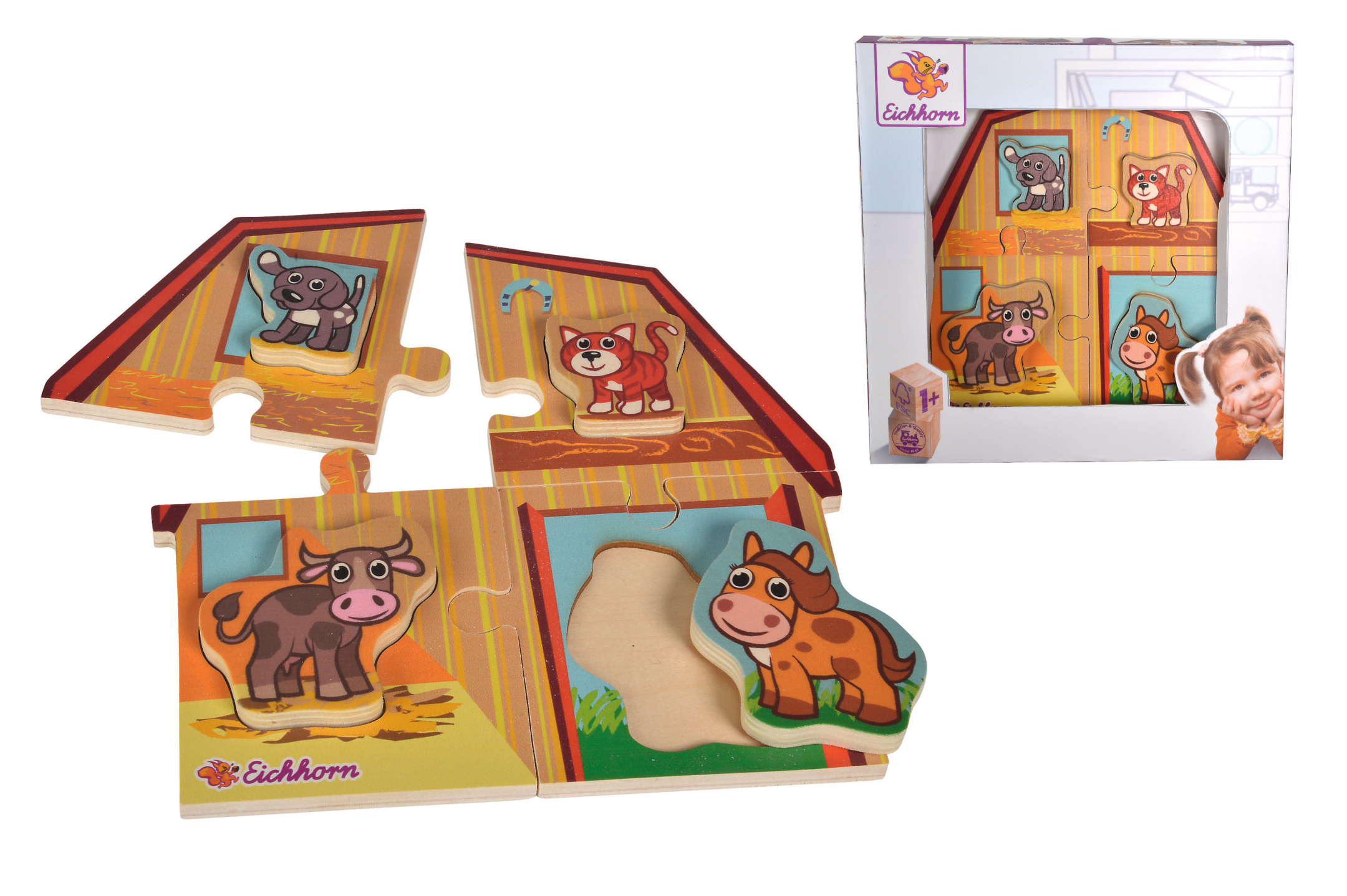 Eichhorn 2 Level Puzzle mit Tieren