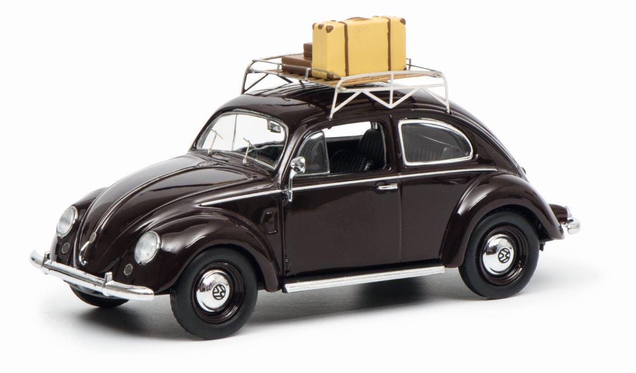 VW Brezelkäfer, dunkelrot 1:43