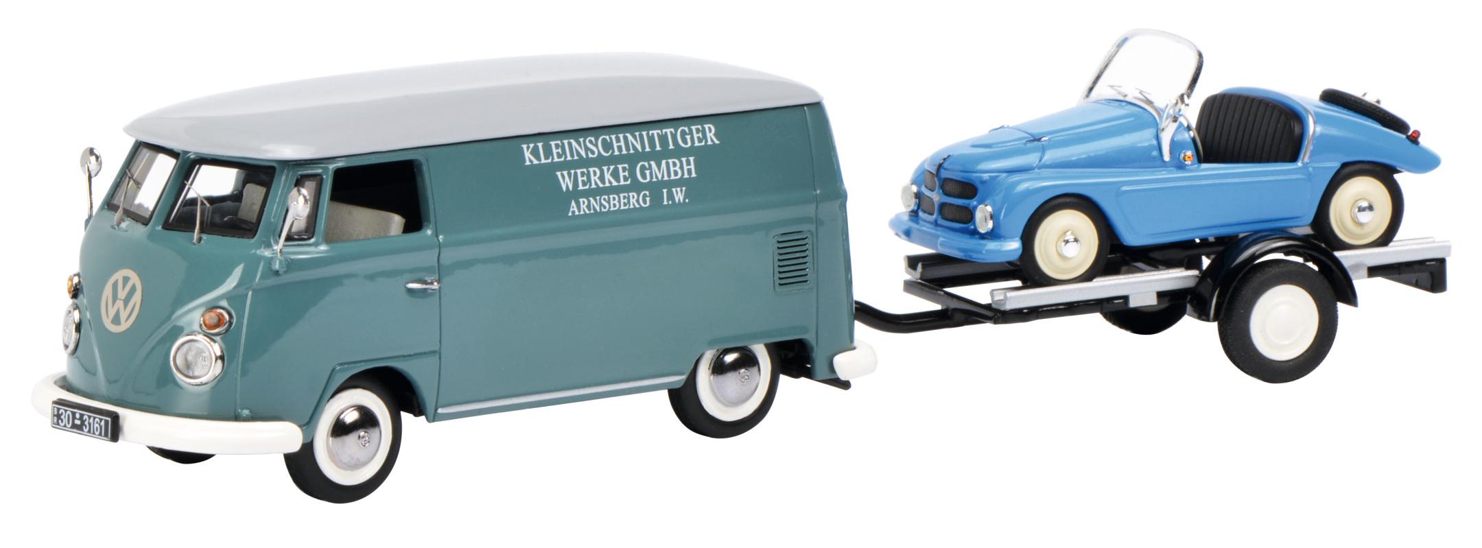 VW T1 mit Hänger + Kleinschnittger