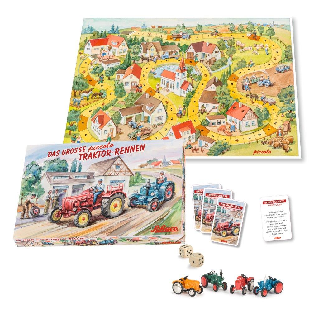 Piccolo Brettspiel Traktor-Rennen