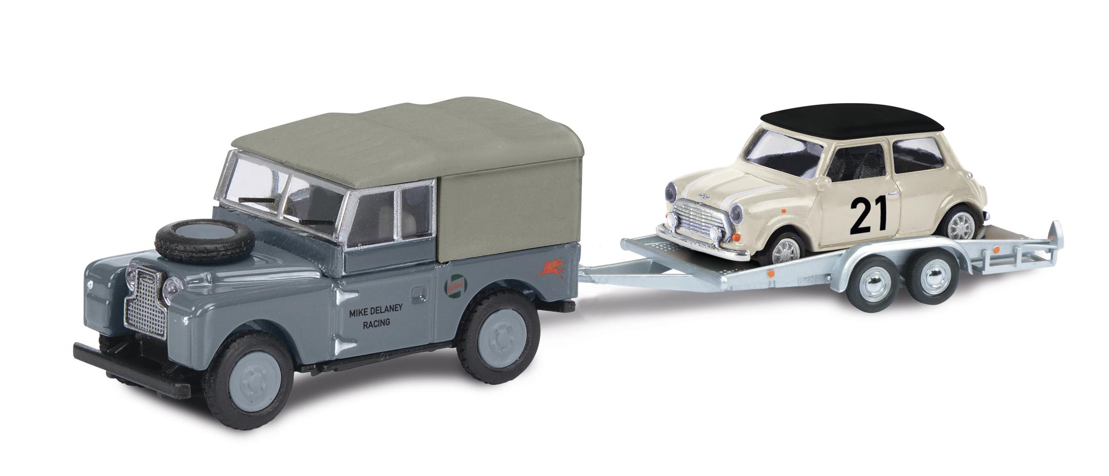 Land Rover I mit Anhänger 1:87