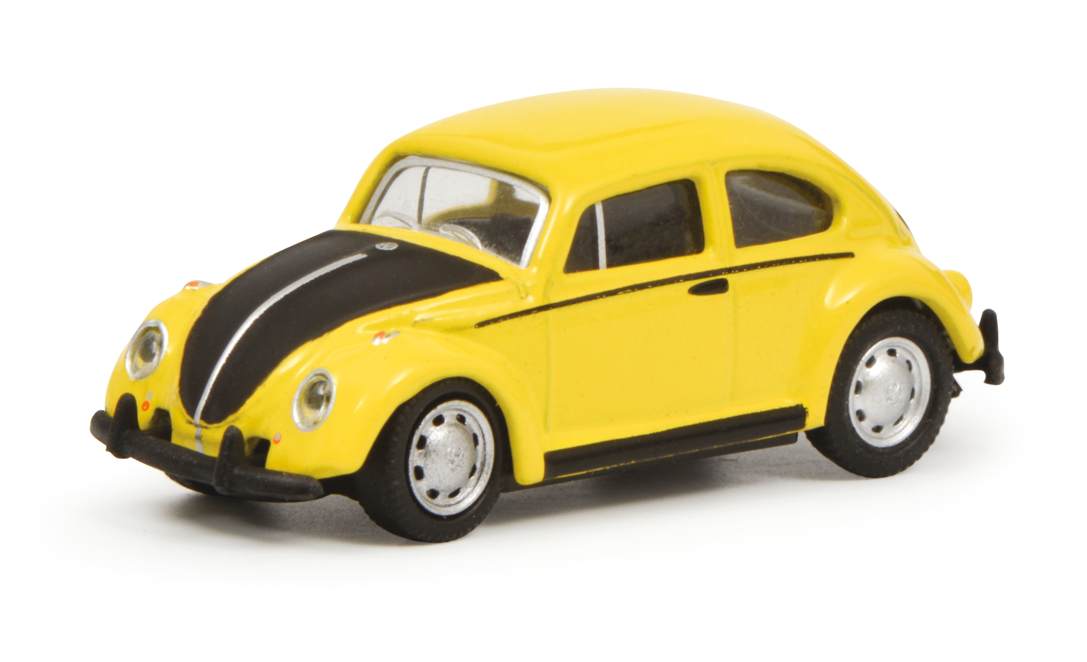 VW Käfer gelb-schwarz 1:87
