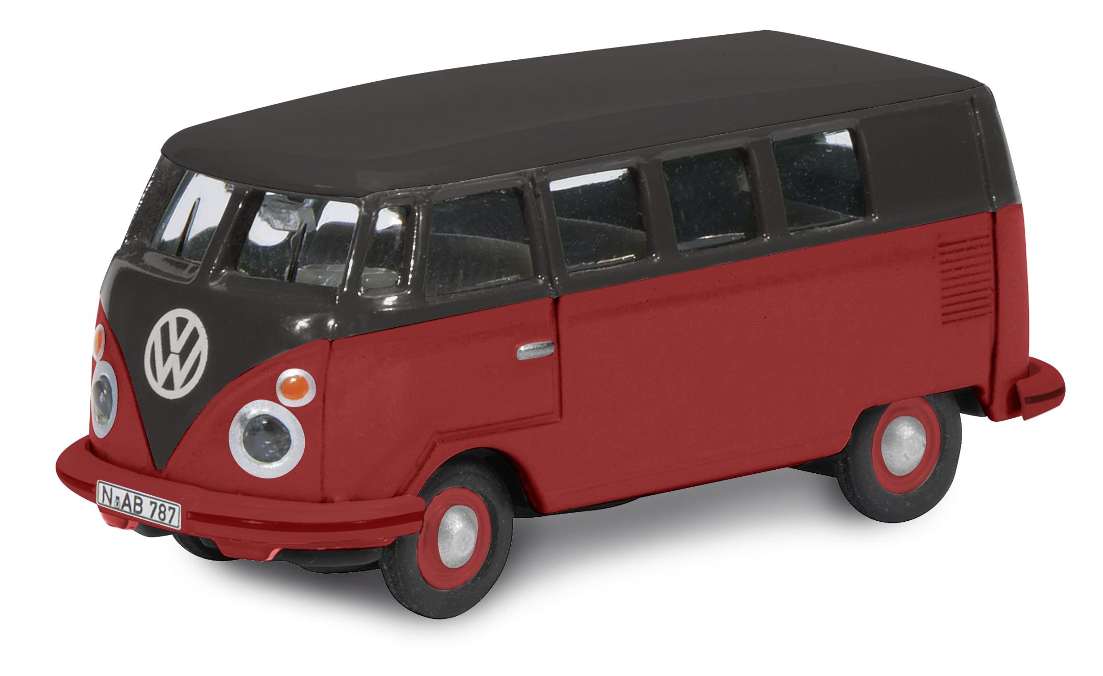 VW T1c Bus schwarz-rot 1:87