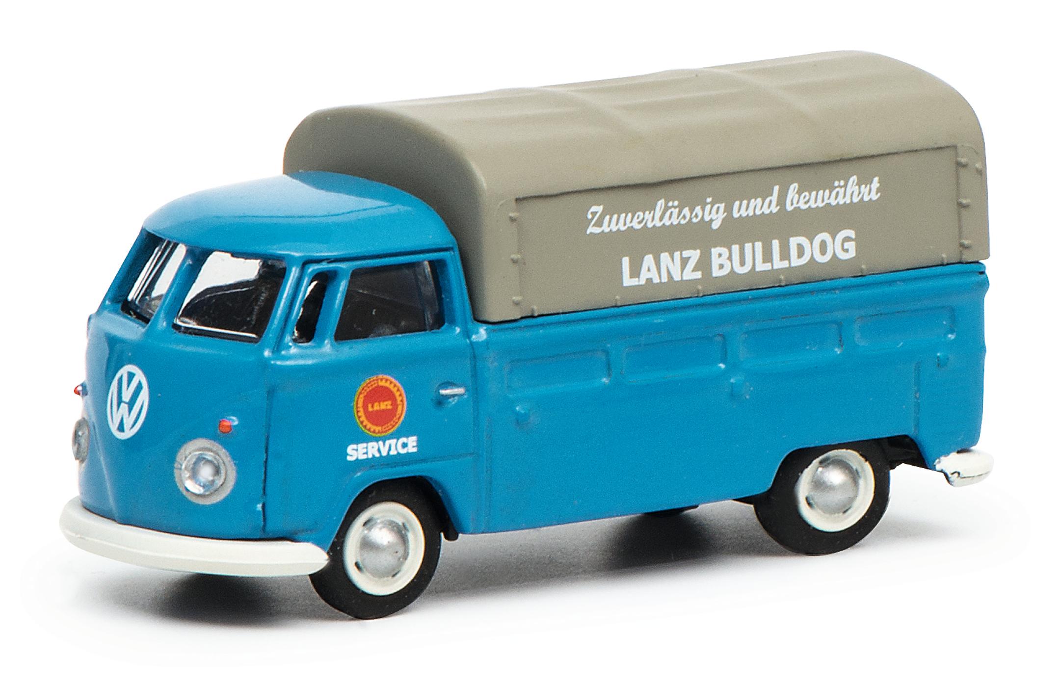 VW T1c LANZ Pritsche-Plane blau 1:87