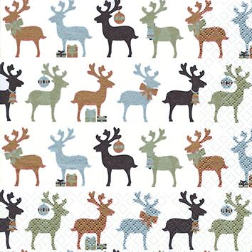 Reindeer kupfer - Servietten 25x25