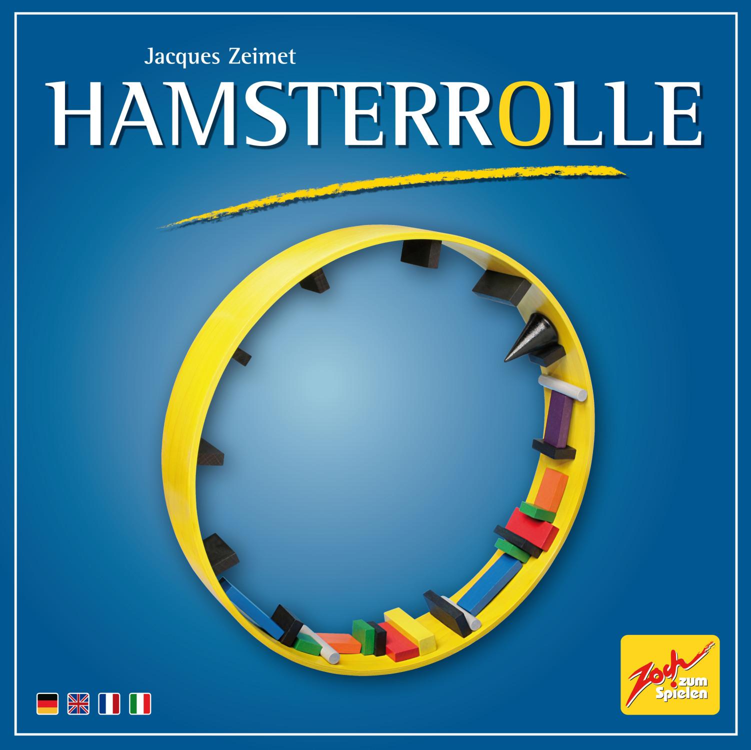 Bau- und Geschicklichkeitsspiel Hamsterrolle