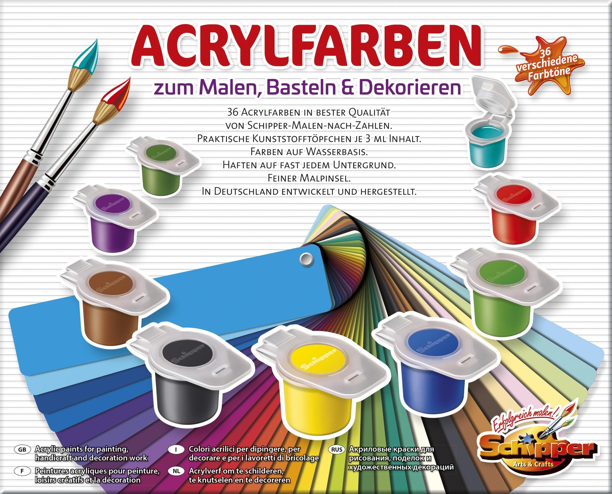 Malen nach Zahlen - 36 Acrylfarben