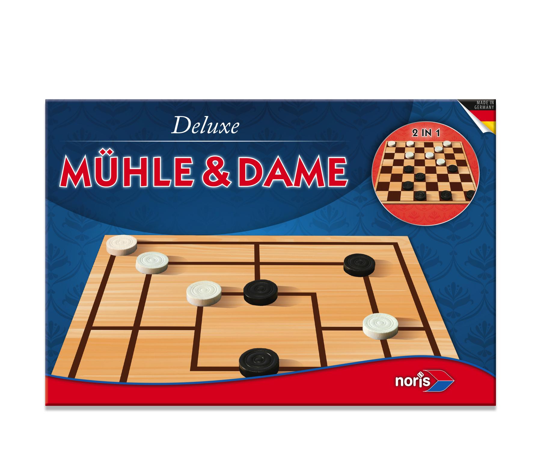 Brettspiel Dame & Mühle