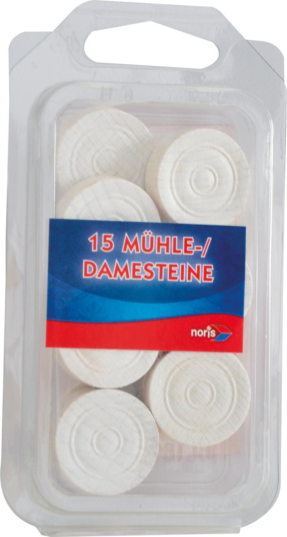Dame & Mühlesteine Holz weiß