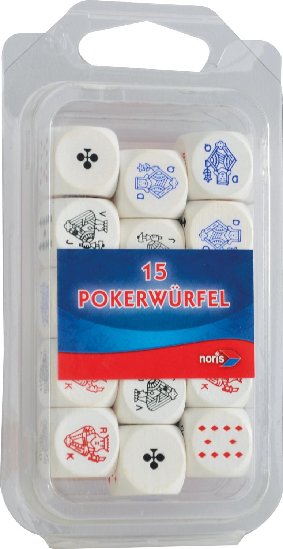Pokerwürfel Holz 16mm